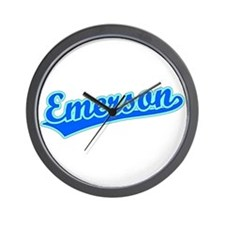 Retro Emerson (Blue) Wall Clock