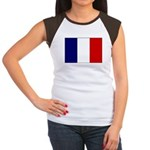 French Flag Women's Cap Sleeve T-Shirt