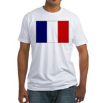 French Flag Fitted T-Shirt