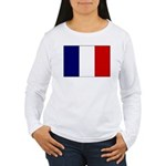 French Flag Women's Long Sleeve T-Shirt