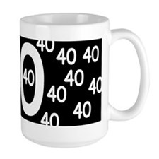 40th Birthday Ceramic Mugs