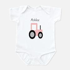 Ashlee - Pink Tractor Onesie