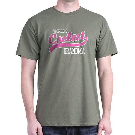 World's Coolest Grandma Dark T-Shirt