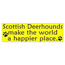 Happy Place Scottish Deerhound Bumper Stickers