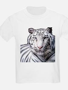 White Bengal Tiger Kids T-Shirt