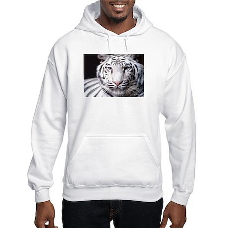 White Bengal Tiger Hooded Sweatshirt
