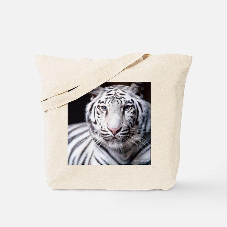 White Bengal Tiger Tote Bag