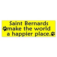 Happy Place Saint Bernard Bumper Stickers