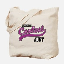 World's Coolest Aunt Tote Bag