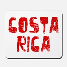 Costa Rica Faded (Red) Mousepad