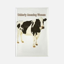 Udderly Amazing Woman Rectangle Magnet