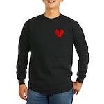 Broken Heart Long Sleeve Dark T-Shirt