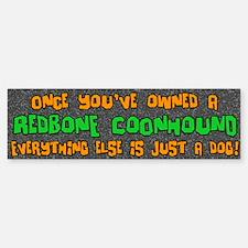 Just a Dog Redbone Coonhound Bumper Car Car Sticker