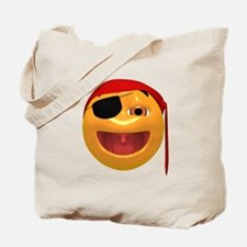 Laughing Pirate Face Tote Bag