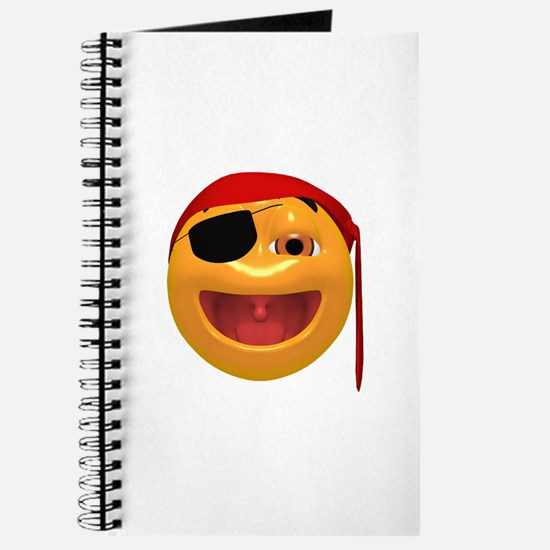Laughing Pirate Face Journal
