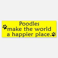 Happy Place Poodle Bumper Bumper Bumper Sticker