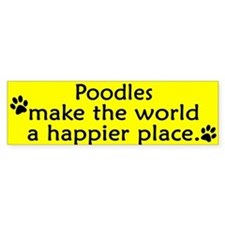 Happy Place Poodle Bumper Bumper Sticker