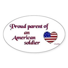 Proud Parent/Army Oval Decal
