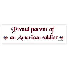 Proud Parent/Army Bumper Car Sticker