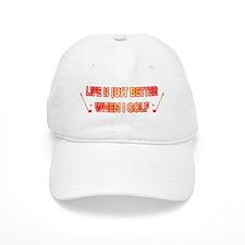 golf - life is just better Baseball Cap