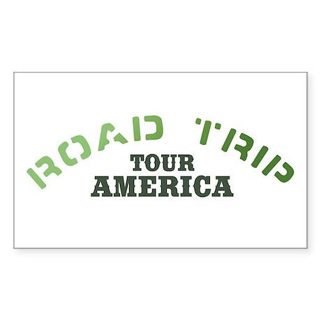 Road Trip Rectangle Sticker