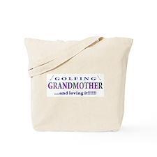 Golfing Grandmother Tote Bag
