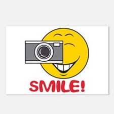 Photographer Smiley Face Postcards (Package of 8)