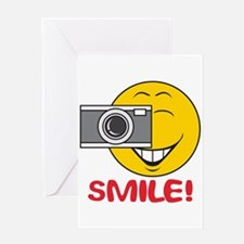Photographer Smiley Face Greeting Card