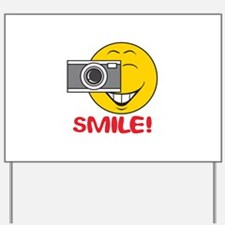 Photographer Smiley Face Yard Sign