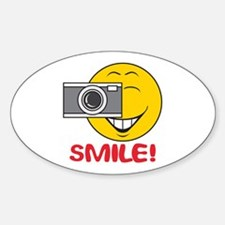 Photographer Smiley Face Oval Decal