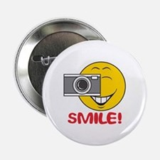 "Photographer Smiley Face 2.25"" Button"