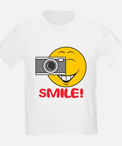 Photographer Smiley Face T-Shirt