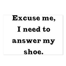 Excuse me Postcards (Package of 8)