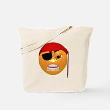 Mean Pirate Face Tote Bag