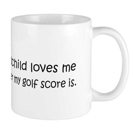 Golf - My Grandchild Loves Me Mug