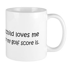 Golf - My Grandchild Loves Me Small Mug