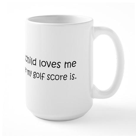 Golf - My Grandchild Loves Me Large Mug