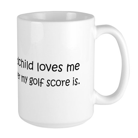 Golf - My Grandchild Loves Me Large Mug