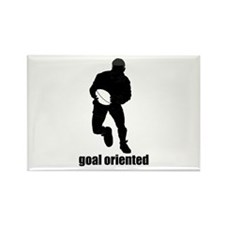 Goal Oriented Rugby Rectangle Magnet