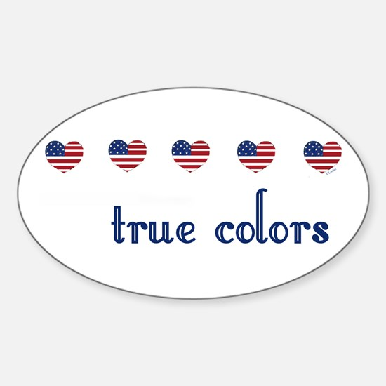 True Colors/Hearts Oval Decal