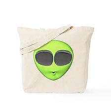 Big Eyed Alien Face Tote Bag