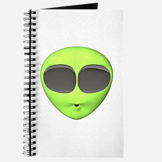 Big Eyed Alien Face Journal