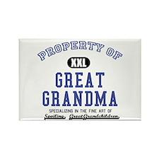 Property of Great Grandma Rectangle Magnet
