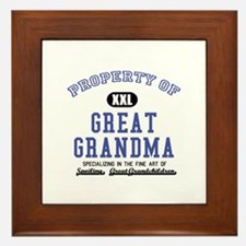 Property of Great Grandma Framed Tile