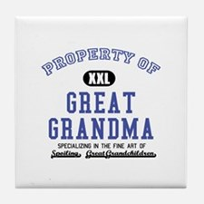 Property of Great Grandma Tile Coaster
