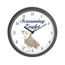 Screaming Eaglet Wall Clock