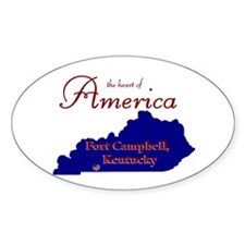 Fort Campbell Oval Stickers