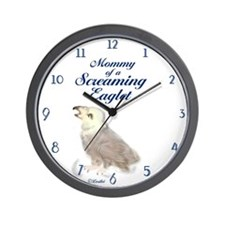 Eaglet Mommy Wall Clock
