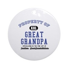 Property of Great Grandpa Ornament (Round)