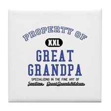 Property of Great Grandpa Tile Coaster